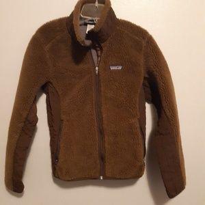 Patagonia teddy bear zip up jacket sz.Medium